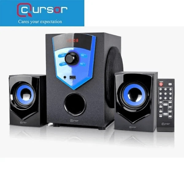 Cursor 2.1 Bluetooth Multimedia Speaker E210 USB FM Radio Remote